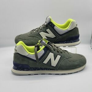 Men's New Balance ML574HVC Dark Covert Green 574 Suede Sneakers SIZE 11.5 11 1/2