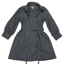 Armani Exchange A/X Women's Lined Belted Nylon Rain Coat Jacket Black • Small