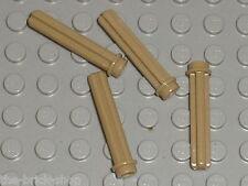 LEGO TECHNIC axle 3 with stud 6587 DkTan / Set 10240 75059 42043 8081 10225 9397