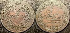 Suisse - Canton de Vaud - 1 batz / 10 rappen 1817 joli ! KM#8