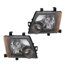 Fits 2009-2015 Nissan Xterra S/X Driver & Passenger Headlights Lamps Pair Set