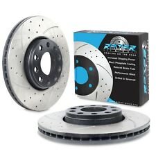 REAR DRILLED GROOVED 321mm BRAKE DISCS TO VAUXHALL OPEL ASTRA H ZAFIRA TURBO VXR