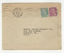 France 2 timbres sur lettre 1948 tampon Paris XVII /L677
