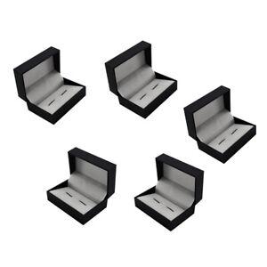 5Pcs Luxury Cufflink Cuff Links Storage Gift Box Jewelry Display Case Holder