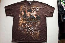 TWILIGHT NEW MOON VAMPIRE LOVE STORY T Shirt (graphic t) Brown xLarge Cotton Men