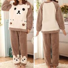 Mujer Pijamas Batas Conjuntos de Flanela para Invierno suave Pajama SetsHGF