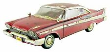 Auto World AWSS119 Movie Stephen King: Christine 1958 Plymounth Fury Voiture Dirty Version - Rouge/Blanc