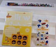 Yellow Submarine GRAB BAG-C Magic Wand Stationary Set 16 STICKERS Sheet Beatles