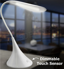 Desk Lamp LED Light Dimmable Bedside Reading Portable Travel Swan USB or Battery