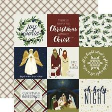 "Echo Park - Oh Holy Night - 4x4 JOURNALING CARDS - 12x12"" d/sided paper"