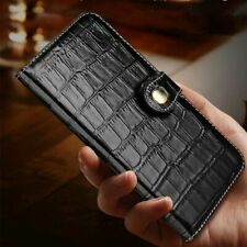 Luxury Leather Crocodile Pattern Flip Cover Wallet Case For iPhone 12/11 Pro Max