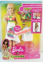 Barbie Crayola Rainbow Fruit Surprise Doll and Fashions NEW