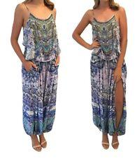 Camilla Franks Temptress of the Deep Shoestring Strap Silk Jumpsuit sz 1/S  $599