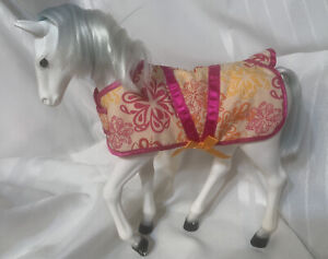 """Our Generation (Morgan) Horse For 18"""" Dolls White With Blanket"""