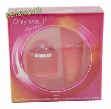 ONLY ME PASSION BY YVES DE SISTELLE 2 PS SET 3.3/3.4 EDP SPRAY FOR WOMAN IN BOX