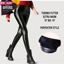 Invierno Thermo Matt óptica piel leggings High waist tupido pantalones caliente S M L