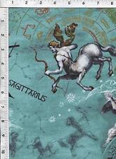 "Fabri Quilt Horoscope New Dawn Sagittarius 100% cotton 43"" Fabric by the yard"