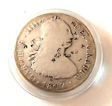 1807- 8 Reale With Numerous Authentic Old Chop Marks- See Other Gold & Silver