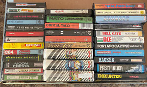 🕹33x Commodore 64 C64 Games Various Games 33 Game Nice Retro Job Lot 📼