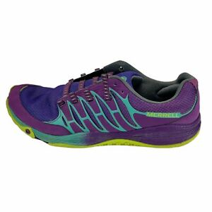Merrell Womens Allout Fuse J01682 Purple Lime Running Shoes Lace Up Size 8.5