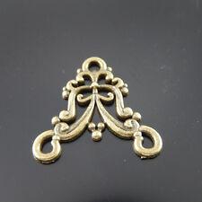 30PCS Antique Bronze Vintage Alloy Floral Flower Charms Connector Pendant