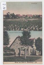 2864, Linde / Löwenberg 2 Bild Color Gasthaus Walters gelaufen 1909 !
