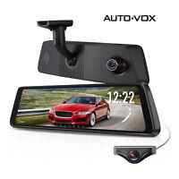 "X1 Pro Dash Cam 9.88"" Dual Lens Car DVR Rear View Mirror Monitor Camera Recorder"