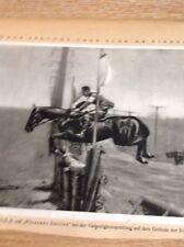 Ephemera Picture 1932 Olympics Harry D Chamberlain Pleasant Smiles Horse B1k