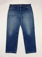 Mc joy jeans uomo usato gamba dritta W40 tg 54 denim vintage blu boyfriend T6722