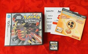 Pokemon Platinum Version (Nintendo DS 2009) Authentic Tested - With Inserts