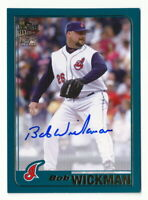 BOB WICKMAN 2020 TOPPS ARCHIVES FAN FAVORITES AUTO CLEVELAND INDIANS
