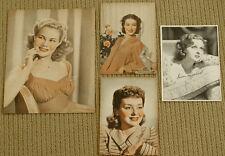 VINTAGE LOT OF 4 PHOTOS June Preisser LORETTA YOUNG Anne Shirley SUSAN HAYWARD