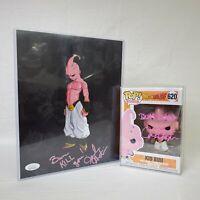 Funko Pop DBZ Kid Buu #620 and Print JSA Autographed Signed by Josh Martin