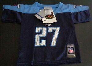 EDDIE GEORGE Tennessee TITANS Football REEBOK Toddler 2T Blue Jersey NFL New