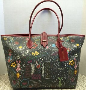 *Dooney & Bourke* Macy's Day Parade*BLACK* East West Large Tote/Shopper #16037B