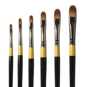Daler Rowney System 3 Acrylic Short Handle Filbert Brushes