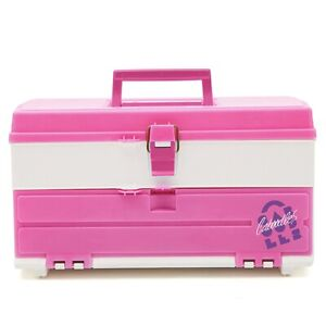 Vintage Caboodles Makeup 1987 Throw Back  Case, New - Pink & White Retro Style