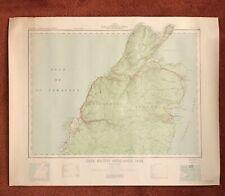 Canadian Map Cape Breton Nova Scotia 1939 Dept Of Mines & Technical Surveys