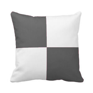 Solid Block Design Pillow Cover Egyptian Cotton 800TC all size & color