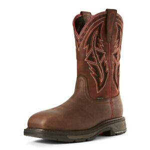 Ariat Mens WorkHog XT VentTEK Spear Carbon Toe Work Safety Western Boot 10027305