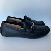 Cole Haan Men's Loafers Somerset Bit Croc Leather Shoes Black Size 11 Wide