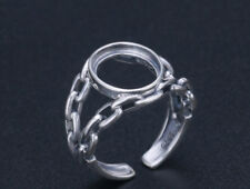 10*12mm 925 STERLING SILVER chain Blanks Pad ring Setting Jewelry gift P1330