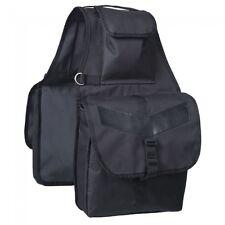 Tough 1 Black Large Nylon Saddle Bag horse tack equine 61-4737