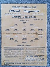 1943 - WAR CUP FINAL PROGRAMME (SOUTH v NORTH) - ARSENAL v BLACKPOOL