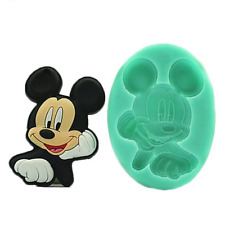 Mouse Mickey kids Silicone Mold Mould for cake Icing Halloween  M246