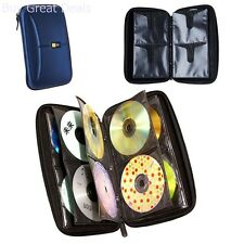 CD Case DVD Wallet Media Album Holder 72 Disc Bag Organizer Portable Storage NEW
