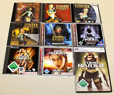 9 PC SPIELE SAMMLUNG TOMB RAIDER LEGEND ANNIVERSARY ANGEL UNDERWORLD CHRONIK 2 3