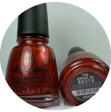 China Glaze Nail Polish Drive In 739 Shimmer Classic Red Fall Color