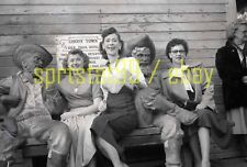 1950s Ladies on Bench - Calico Ghost Town - Vintage B&W Negative