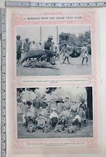 1907 India Print Mhow Tent Club Morning Meet Boars